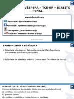 Revisão de Véspera - Tce-sp - Direito Penal (09.12.2017)