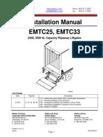 Emtc Series II - plataforma levadiza para carga trasera camión