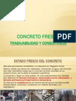 Trabajabilidad- Consistencia Concreto Fresco