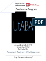 UtABA 2018 Conference Program