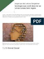 19 Livros de Psicologia Que São Leitura Obrigatória