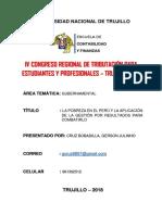 La Pobreza en El Perú y La Aplicación de La Gestión Por Resultados Para Combatirlo