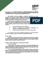 090622 Resolucion Act Clinico- Adtvas