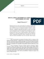 Regulation and Deregulation in Chile