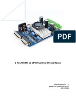 3 Axis TB6560 CNC Driver Board Users Manual