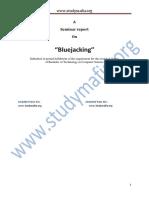 Bluejacking Seminar Report