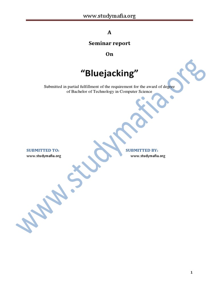 ieee research paper on bluejacking