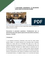 Documento Completo Del Vaticano Sobre La Economia Mundial