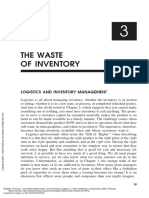Lean Six Sigma Logistics ---- (Chapter 3 - The Waste of Inventory)