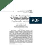 Notas sobre el sentido y alcance del Numeral 5 del Artículo 6 de la Ley Orgánica de Amparo sobre Derecho y Garantías Constitucionales venezolano