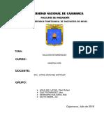 DILUCIÓN DE MINERALES - GRUPO N°2