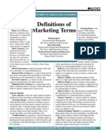 Definitions of Mktg Terms