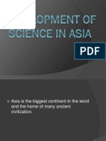 Development of Science in Asia