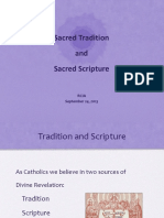Tradition and Scripture 2015