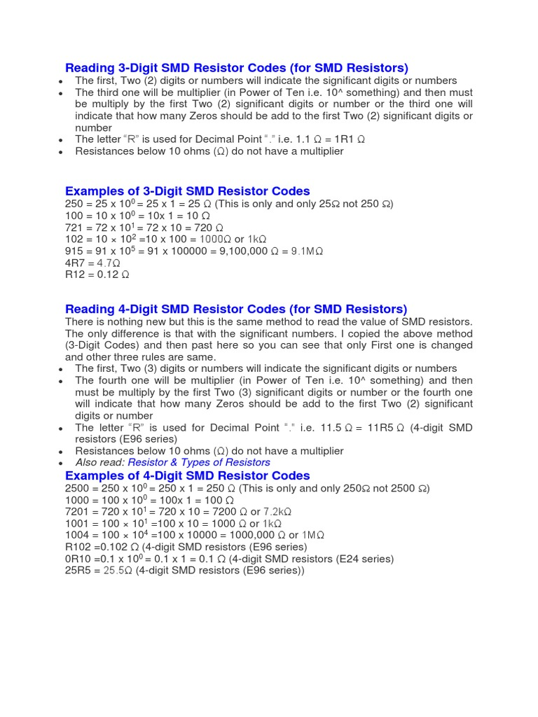 Resistor Color Code And Smd Calculator Software Electronic Circuits