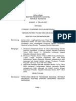 Permendiknas No. 12 Tahun 2007 Standar Pengawas Sekolah Madrasah