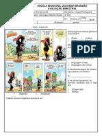 Avaliação Bimestral de Lingua Portuguesa - Ana Ligia
