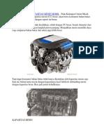 Perbandingan Kapasitas Mesin Mobil