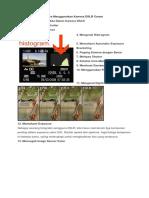 Cara Menggunakan Kamera DSLR Canon