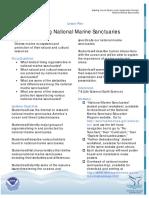 Lessons National Marine Sanctuaries