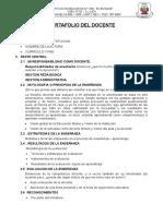 Portafolio Del Docente - Primaria 2018