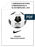 Bases de Futbol Fam. Rojas Centro Pampalanya -2018