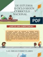 Áreas Curriculares en El I Ciclo