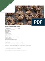 Resepi Donut Bersalut Coklat