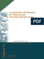 Formulación y Evaluación de Proyectos de Inversión Agropecuarios