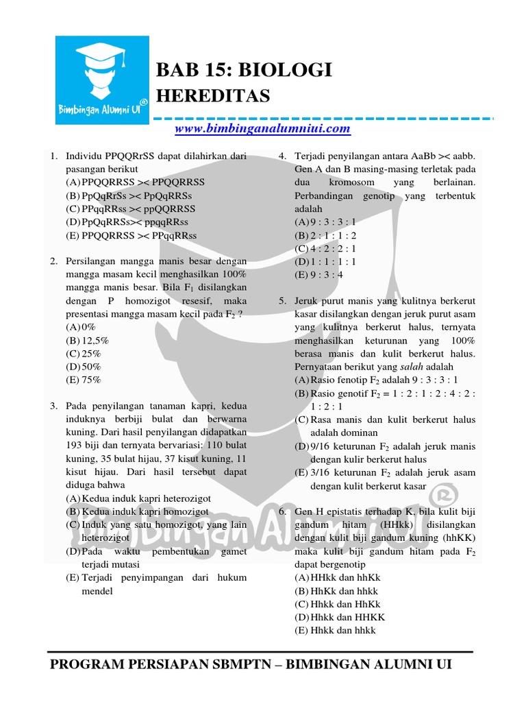 Bab 15 Hereditas Bimbingan Alumni Ui Pdf