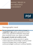 Demographic Trends in Human Resource Management