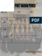 Ppt Jadwal Piket Harian Poned