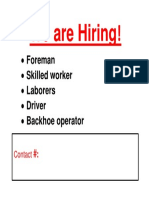 We are Hiring Format