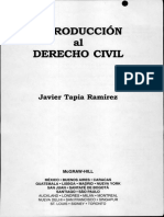 Introduccion Derecho Civil-Javier Ramírez Tapia