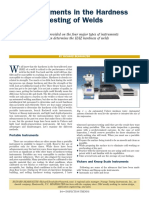 ARTICLE - Advancements in the Hardness Testing of Welds (2010)
