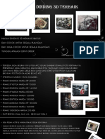 Hiasan Dinding 3D Ruang Tamu Elegan Fast Respon Call, Sms, WA