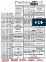 June 2018 Pricelist