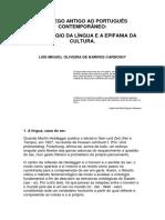 Do Grego Antigo Ao Português Contemporâneo