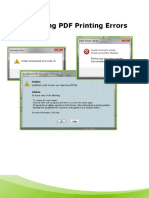 PDF Printer Issues