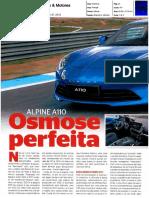 """NOVO ALPINE A110 NA """"CARROS & MOTORES"""""""