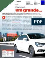 "RENAULT MÉGANE GRAND COUPÉ NA ""CARROS & MOTORES"""