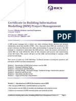 Certificate in Bim Project Management