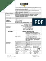 MDC Material data sheet