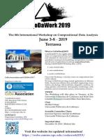 8º Congreso de datos composicionales, CoDaWork CDW19