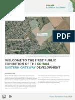 Soham Eastern Gateway public exhibition boards