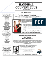 Hannibal Country Club Newsletter - Sept. 2010