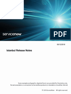 Servicenow Istanbul Release Notes | Subroutine | Internet Explorer