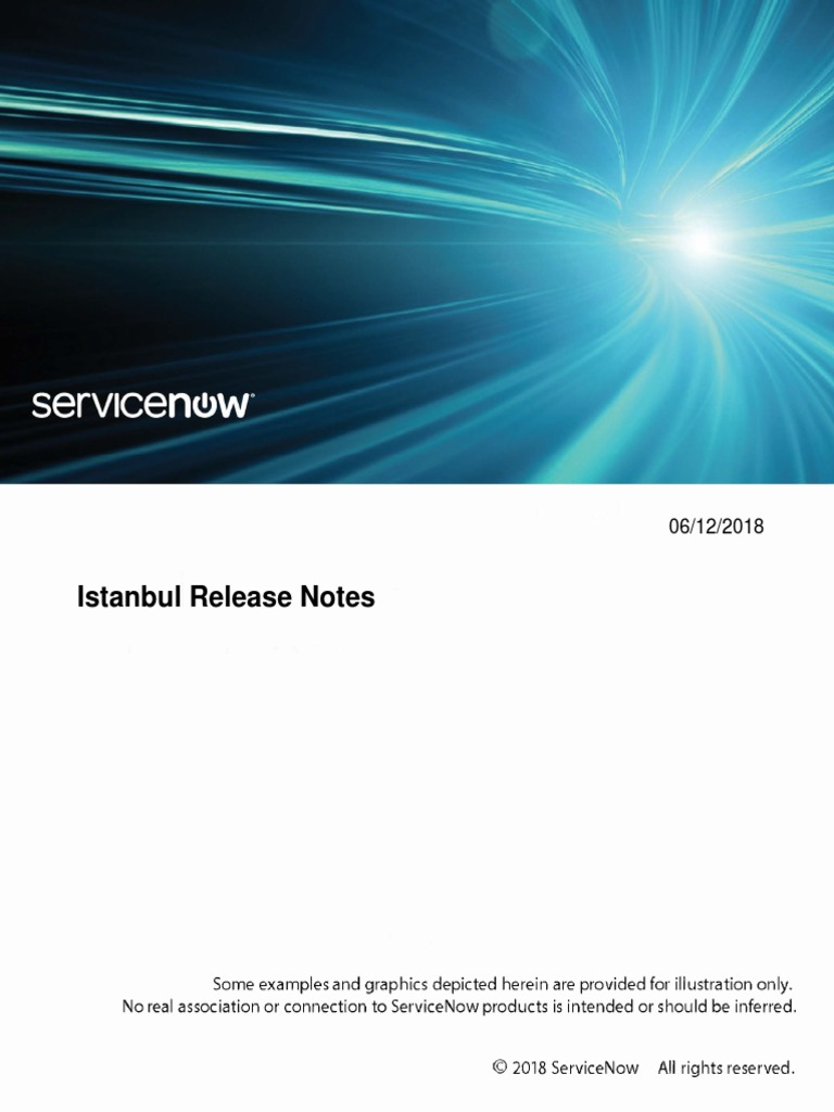 Servicenow Istanbul Release Notes | Subroutine | Internet