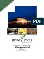 barrington hill catering menu