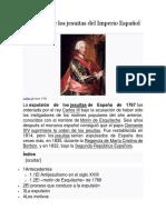 Expulsión de Los Jesuitas Del Imperio Español de 1767
